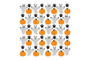 Halloween Cat and Dog Ghosts Pattern Halloween Craft Cut File By Creative Fabrica Crafts