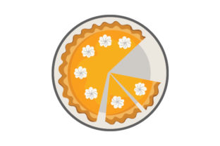 Pumpkin Pie on a Plate Food & Drinks Craft Cut File By Creative Fabrica Crafts