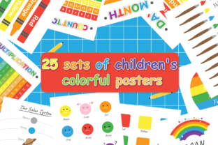 25 Set of Educational Kids Posters Graphic Teaching Materials By Kids Zone