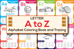 Print on Demand: Alphabet Letter Tracing Worksheet a to Z Graphic Teaching Materials By Creative Designer