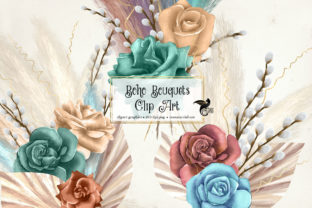 Print on Demand: Boho Bouquets Clipart Graphic Illustrations By Digital Curio