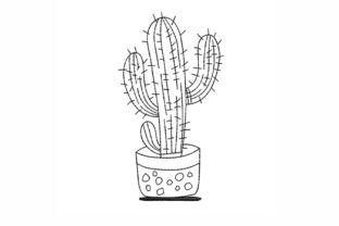 Cactus Single Flowers & Plants Embroidery Design By LizaEmbroidery