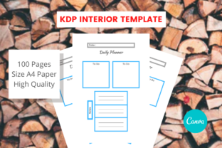 Print on Demand: Daily Planner Canva Template Graphic KDP Interiors By Ciriative