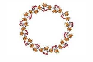 Fall Wreath Floral Wreaths Embroidery Design By NinoEmbroidery