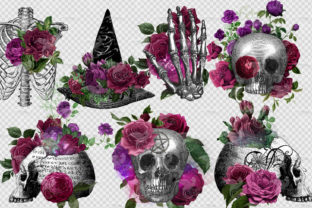 Print on Demand: Floral Witch Skulls Graphic Illustrations By Digital Curio 2