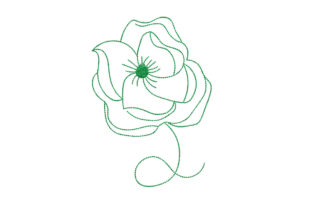 Flower Outline Flowers Embroidery Design By Alistudio