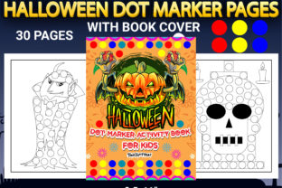 Print on Demand: Halloween Dot Marker Coloring Pages Graphic Coloring Pages & Books Kids By Simran Store 1