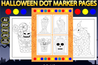 Print on Demand: Halloween Dot Marker Coloring Pages Graphic Coloring Pages & Books Kids By Simran Store 2