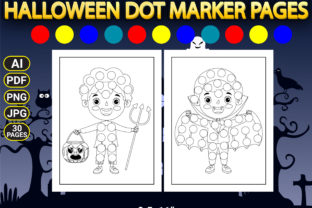 Print on Demand: Halloween Dot Marker Coloring Pages Graphic Coloring Pages & Books Kids By Simran Store 3