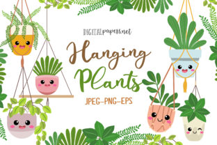 Print on Demand: Hanging Plants Graphic Illustrations By DigitalPapers