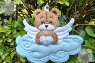 ITH Angel Cot Mobile Teddy Bears Embroidery Design By CHICCAWORKSHOPSTORE 2