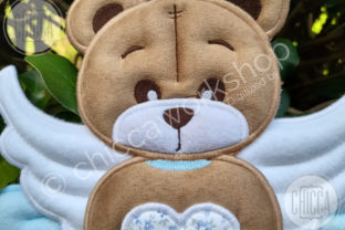 ITH Angel Cot Mobile Teddy Bears Embroidery Design By CHICCAWORKSHOPSTORE 3