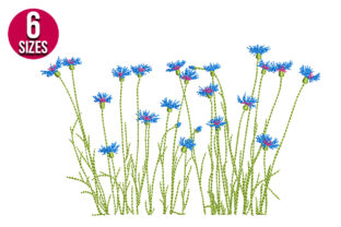 Print on Demand: Meadow Flowers Bouquets & Bunches Embroidery Design By nationsembroidery 1