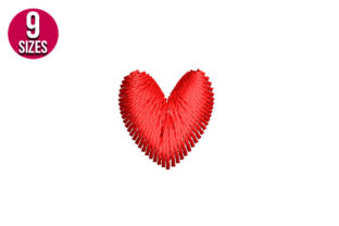 Print on Demand: Mini Heart Valentine's Day Embroidery Design By nationsembroidery