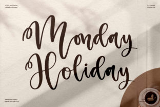 Print on Demand: Monday Holiday Script & Handwritten Font By perspectype