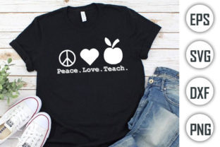 Teacher Quotes T-shirt Design, Peace Graphic Print Templates By Alif Graphics