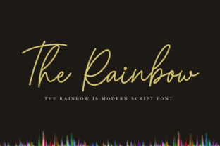 Print on Demand: The Rainbow Script & Handwritten Font By Gagegostyle