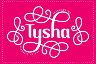 Print on Demand: Tysha Display Font By Rizkky (7NTypes)