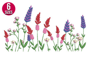 Print on Demand: Wildflowes Bouquets & Bunches Embroidery Design By nationsembroidery 1