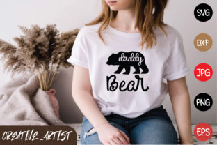 Print on Demand: Daddy Bear Graphic Print Templates By Creative_Artist