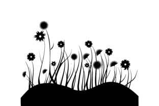 Wildflower Meadow Silhouette Nature & Outdoors Craft Cut File By Creative Fabrica Crafts