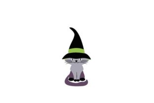 Cat Wearing Witch's Hat Halloween Craft Cut File By Creative Fabrica Crafts