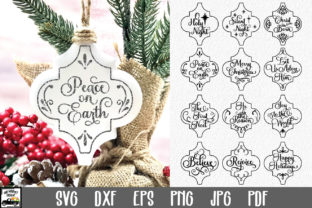 Print on Demand: Arabesque Christmas Ornaments Bundle Graphic Crafts By oldmarketdesigns