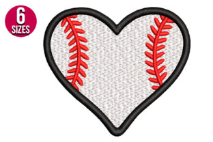 Print on Demand: Baseball Heart Sports Embroidery Design By Nations Embroidery
