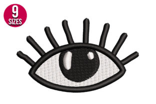 Print on Demand: Boho Eye Shapes Embroidery Design By Nations Embroidery