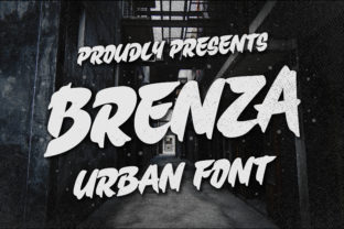 Print on Demand: Brenza Display Font By Blankids Studio
