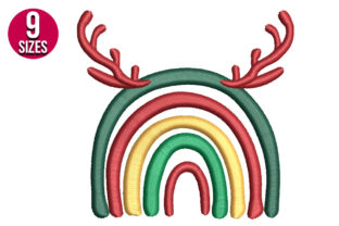Print on Demand: Christmas Rainbow Christmas Embroidery Design By Nations Embroidery