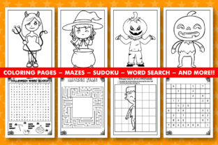 Print on Demand: FULL HALLOWEEN ACTIVITY BOOK for KIDS Graphic Coloring Pages & Books Kids By KDP INTERIOR DESIGN 2