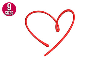 Print on Demand: Heart Shape Valentine's Day Embroidery Design By nationsembroidery
