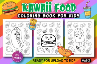 Print on Demand: Kawaii Coloring Book for Kids Vol-2 Graphic Coloring Pages & Books Kids By Kids_Zone