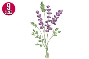 Print on Demand: Lavender Bunch Bouquets & Bunches Embroidery Design By nationsembroidery 1
