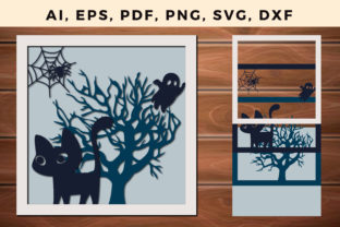 Print on Demand: Multi Layer Halloween Decorations 3d Svg Graphic 3D SVG By NGISED