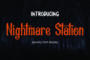 Print on Demand: Nightmare Station Blackletter Font By NeutroneLabs