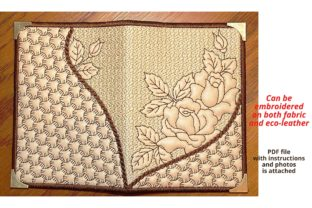 Passport Cover Sheridan Roses Accessories Embroidery Design By Beautiful Embroidery