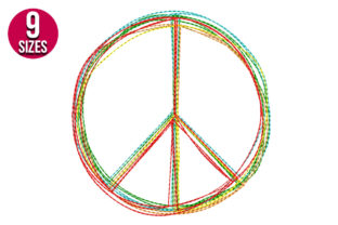 Print on Demand: Peace Sign Teenagers Embroidery Design By Nations Embroidery 1
