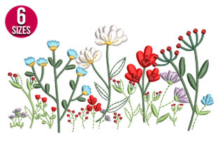 Print on Demand: Wildflowers Bouquets & Bunches Embroidery Design By nationsembroidery 1