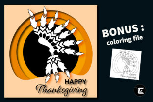 Print on Demand: Happy Thanskgiving Graphic 3D SVG By grafikestelle