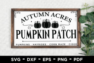 Autumn Acres Pumpkin Patch | Fall SVG Graphic Crafts By CraftlabSVG