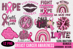 Print on Demand: Breast Cancer Sublimation Bundle Graphic Print Templates By Arinnnnn Design