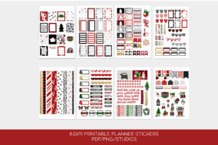 Print on Demand: Christmas Printable Stickers Weekly Kit Graphic Print Templates By TheGGShop
