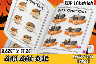 Print on Demand: KDP Halloween Odd-One-out Activity Graphic KDP Interiors By Karet Arts
