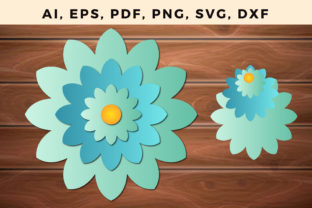 Print on Demand: Multi Layer Flower Paper/laser Cut Svg Graphic 3D SVG By NGISED