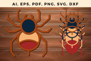 Print on Demand: Multi Layer Spider Laser / Paper Cut Svg Graphic 3D SVG By NGISED
