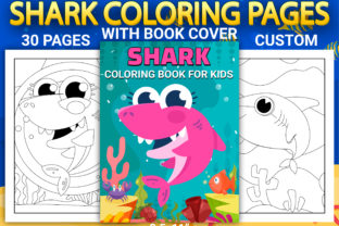 Print on Demand: Shark Coloring Pages with Book Cover Graphic Coloring Pages & Books Kids By Simran Store 1