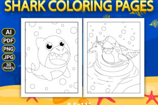 Print on Demand: Shark Coloring Pages with Book Cover Graphic Coloring Pages & Books Kids By Simran Store 3