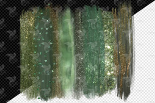 Willow and Sage Brush Strokes Clipart - 2